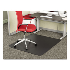 DEFCM14142BLK - deflecto® SuperMat Frequent Use Chair Mat for Medium Pile Carpeting