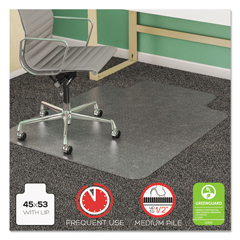 DEFCM14233COM - deflecto® SuperMat Frequent Use Chair Mat for Medium Pile Carpeting