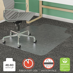 DEFCM14432F - deflecto® SuperMat Frequent Use Chair Mat for Medium Pile Carpeting