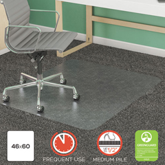 DEFCM14443FCOM - deflecto® SuperMat Frequent Use Chair Mat for Medium Pile Carpeting