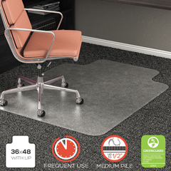 DEFCM15113COM - deflecto® RollaMat® Frequent Use Chair Mat for High Pile Carpeting