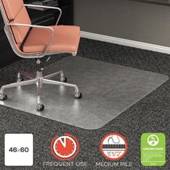 DEFCM15443FCOM - deflecto® RollaMat® Frequent Use Chair Mat for High Pile Carpeting