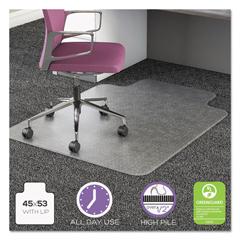 DEFCM16233COM15 - deflecto® UltraMat All Day Use Chair Mat for High Pile Carpeting