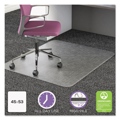 DEFCM16243COM15 - deflecto® UltraMat All Day Use Chair Mat for High Pile Carpeting