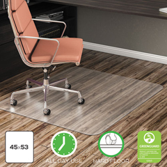 DEFCM21242COM - deflecto® EconoMat® Non-Studded Anytime Use Chairmat for Hard Floors