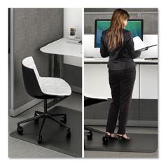 DEFCM24142BLKSS - Ergonomic Sit Stand Mat, 48 x 36, Black