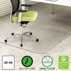 DEFCM2G142PET - deflect-o® EnvironMat Recycled Anytime Use Chair Mat for Hard Floor