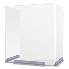 DEFPSB181420H - Classroom Barriers, 18 x 14.5 x 20, Polycarbonate, Clear, Includes 4 Units per Carton