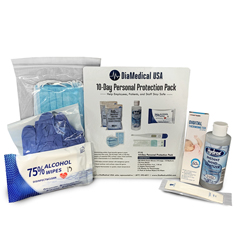 DIAPP10D - DiaMedical USA - 10-Day Personal Protection Travel Kit