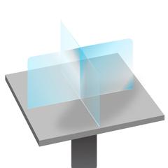 DIASC041518 - SeparationScreen - 4-Person Tabletop SeparationScreen