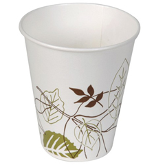 DIX12FPPATH - Pathways. 12 oz. Flair Poly Paper Cold Cups