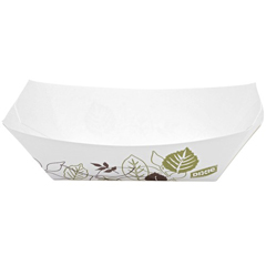 DIXKL50PATH - Pathways® .5 lb. Polycoated Paper Food Trays