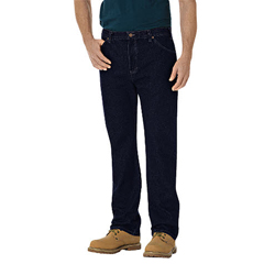 DKI14293-RNB-44-30 - DickiesMens Regular-Fit Straight Fit 6-Pocket Jeans