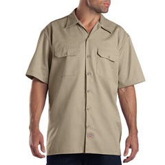 DKI1574-KH-L - DickiesMens Short Sleeve Work Shirts