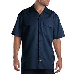 DKI1574-NV-5X - DickiesMens Short Sleeve Work Shirts
