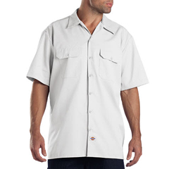 DKI1574-WH-5X - DickiesMens Short Sleeve Work Shirts