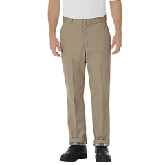 DKI2874-KH-32-30 - DickiesMens Relaxed-Fit Flannel Lined Work Pants