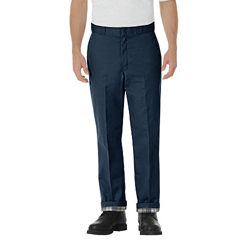 DKI2874-NV-38-34 - DickiesMens Relaxed-Fit Flannel Lined Work Pants
