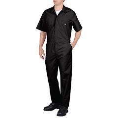 DKI33999-BK-L-TL - DickiesMens Short Sleeve Poplin Coverall