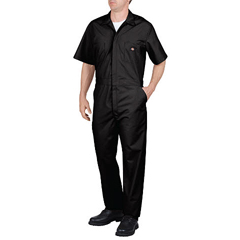 DKI33999-BK-L-RG - DickiesMens Short Sleeve Poplin Coverall