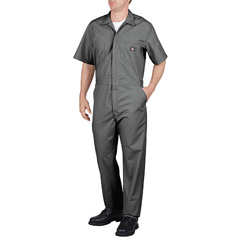 DKI33999-GY-L-S - DickiesMens Short Sleeve Poplin Coverall