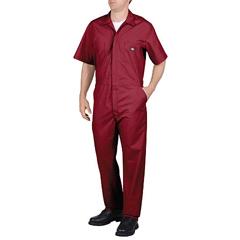 DKI33999-RD-L-TL - DickiesMens Short Sleeve Poplin Coverall