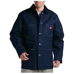 DKI3494-NB-M - DickiesMens Denim Blanket-Lined Chore Coat