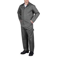 DKI48700-GY-M-TL - DickiesMens Cotton Twill Long Sleeve Coverall