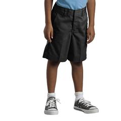 DKI54362-BK-4-RG - DickiesBoys Elastic Back Plain-Front Shorts