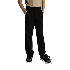 DKI56062-BK-20 - DickiesBoys Husky Plain-Front Pants
