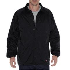 DKI76242-BK-4X - DickiesMens Snap Front Nylon Coachs Jacket