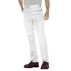 DKI874-WH-36-30 - DickiesMens Plain-Front Work Pant