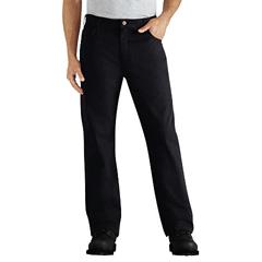 DKIDD112-RBK-42-32 - DickiesMens Regular-Fit Straight-Leg 6-Pocket Duck Jeans