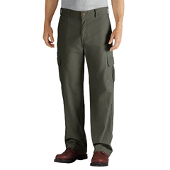 DKIDD113-RMS-34-32 - DickiesMens Duck Cargo Relaxed-Fit Pants
