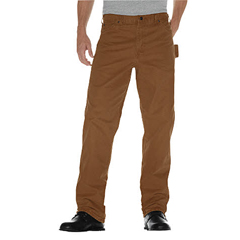 DKIDU336-RBD-44-30 - DickiesMens Relaxed-Fit Sanded Duck Carpenter Jeans