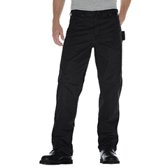 DKIDU336-RBK-36-34 - DickiesMens Relaxed-Fit Sanded Duck Carpenter Jeans