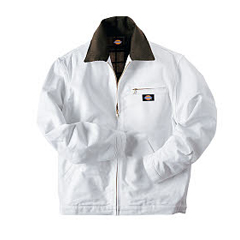 DKIJC58-WH-L - DickiesMens White Flannel Lined Painters Jackets