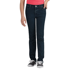 DKIKD560-MNT-8-RG - DickiesGirls 5-Pocket Jeans