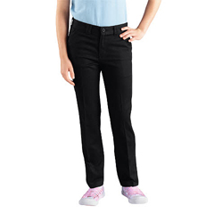 DKIKP801-BK-8-RG - DickiesGirls Skinny Straight-Leg Pants