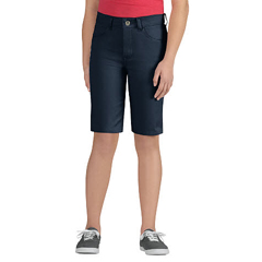 DKIKR560-DN-12 - DickiesGirls 5-Pocket Striped Twill Shorts
