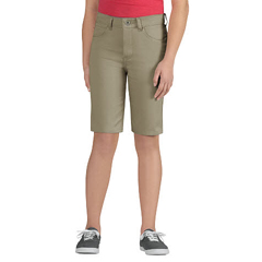 DKIKR560-DS-14 - DickiesGirls 5-Pocket Striped Twill Shorts