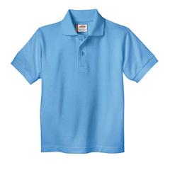 DKIKS234-LB-3TD - DickiesKids Short Sleeve Pique Polo Shirts