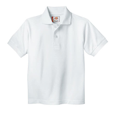 DKIKS234-WH-3TD - DickiesKids Short Sleeve Pique Polo Shirts