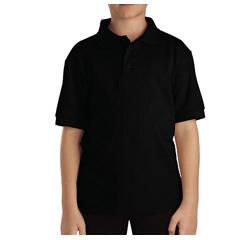 DKIKS4552-BK-L - DickiesKids Short Sleeve Pique Polo Shirts
