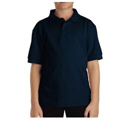 DKIKS4552-DN-M - DickiesKids Short Sleeve Pique Polo Shirts