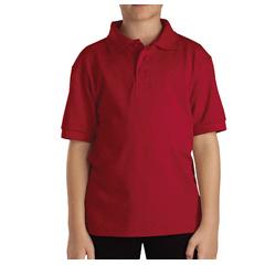 DKIKS4552-ER-M - DickiesKids Short Sleeve Pique Polo Shirts