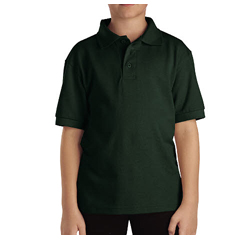 DKIKS4552-GH-S - DickiesKids Short Sleeve Pique Polo Shirts