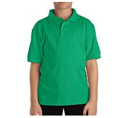 DKIKS4552-GS-M - DickiesKids Short Sleeve Pique Polo Shirts