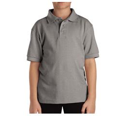 DKIKS4552-HG-L - DickiesKids Short Sleeve Pique Polo Shirts