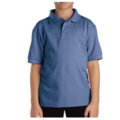 DKIKS4552-LB-XL - DickiesKids Short Sleeve Pique Polo Shirts